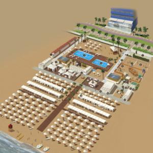 mappa illustrata hotel lungomare