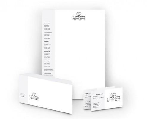 Realizzazione immagine coordinata Logo Lonzi Consulenze - Rimini