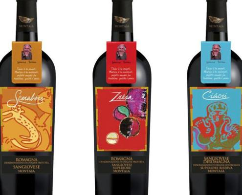 Packaging Grafica Etichette Vini Montaia