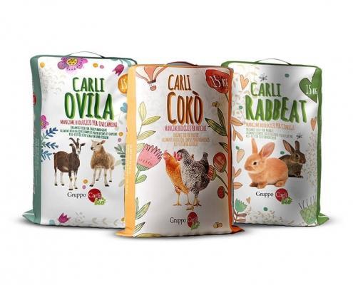Grafica Packaging Mangimi BIO Gruppo Carli