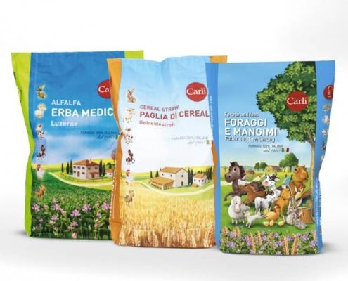 Packaging Illustrato Mangimi Gruppo Carli