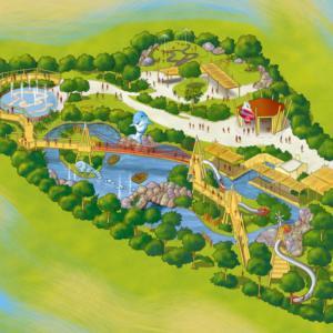 mappa illustrata adventure island