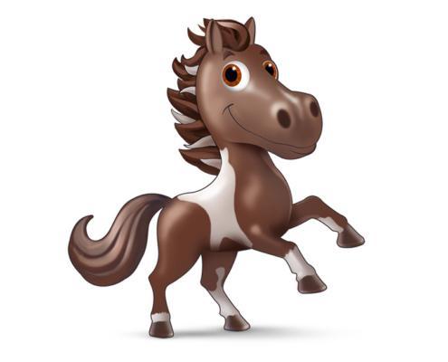 mascotte animali cavallo