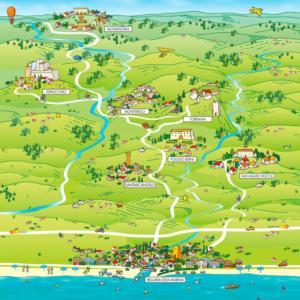 mappa illustrata entroterra romagnolo
