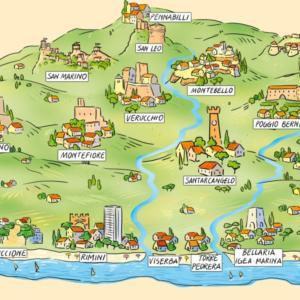 mappa illustrata romagna