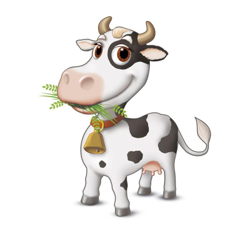 mascotte animali mucca