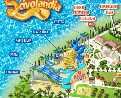 Mappa Parco Acquatico Scivolandia
