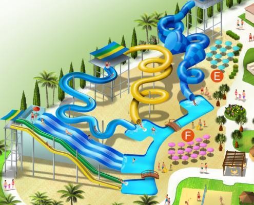 Mappa Parco Acquatico Scivolandia 2