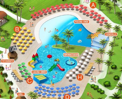 Mappa Parco Acquatico Scivolandia 3